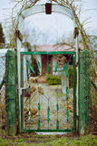 Rustic entrance to vegetable plot Royalty Free Stock Photography