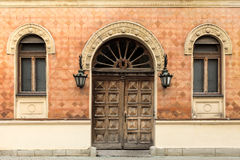 Rustic facade of a building. Royalty Free Stock Photography