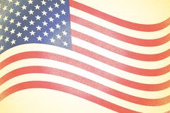 Rustic Faded American Flag Background Royalty Free Stock Photo