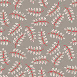 Rustic fall leaves seamless pattern. Stock Photography