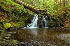 Rustic Falls on Orcas Island in the San Juan Islands, Washington. State stock images