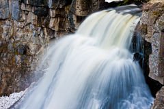 Rustic Falls in Yellowstone Stock Photo