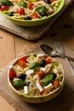 Rustic farfalle salad Stock Image