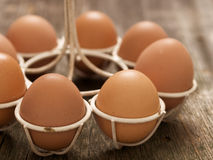 Rustic farm fresh chicken egg Royalty Free Stock Photography
