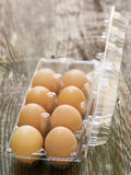 Rustic farm fresh chicken egg Stock Photos