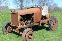 Rustic Farm Tractor Royalty Free Stock Photography