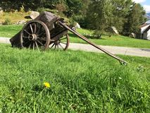 Rustic farmer& x27;s cart at Bakers& x27; Paradise near Stavanger, Norway stock photography