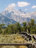 Teton Rustic Fence Stock Photos