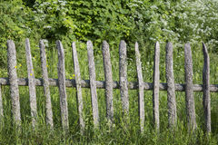 Rustic fence. Village. old rustic wooden fence. handmade. retro stock photos