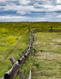 Rustic Fence in Wyoming stock image