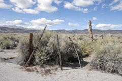 Rustic fencing in the west Royalty Free Stock Image
