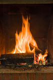 Rustic Fireplace Royalty Free Stock Photos