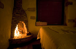 Rustic Fireside Stock Images