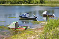 Rustic Fishing Boats Stock Images