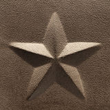 Rustic Five Point Star Embossed Steel Decoration Royalty Free Stock Images