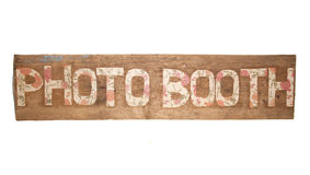 Rustic floral photo booth sign Stock Images