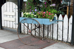 Rustic Flower Cart Royalty Free Stock Photos