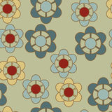 Rustic flower pattern Royalty Free Stock Photo