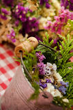 Rustic flowers decor Royalty Free Stock Photo