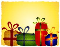 Rustic Folksy Christmas Gifts Background
