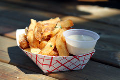 Rustic French Fries Stock Photo