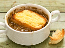 Rustic french onion soup Royalty Free Stock Photography