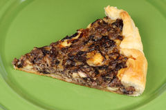Rustic french quiche Stock Image