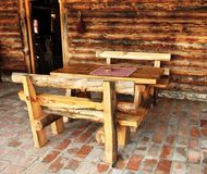 Rustic furniture Stock Images