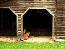 Rustic garage Stock Image