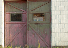 Rustic Garage Doors Stock Photography