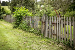 Rustic Garden Fence Royalty Free Stock Images