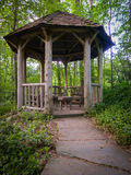 Rustic Garden Gazebo Stock Photo