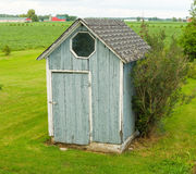 A rustic garden shed in the countryside Royalty Free Stock Image