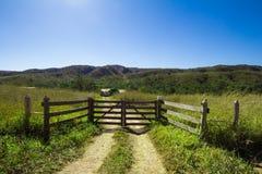Rustic Gate. Farm Entrance Stock Images