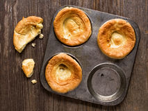 Rustic golden british yorkshire pudding Royalty Free Stock Photos