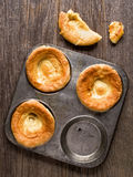 Rustic golden british yorkshire pudding Royalty Free Stock Images