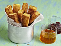 Rustic golden french toast stick Royalty Free Stock Photo