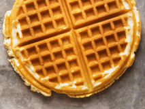 Rustic golden plain waffle Royalty Free Stock Photo