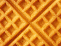 Rustic golden plain waffle food background Stock Image