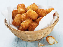 Rustic golden potato tater tots royalty free stock image