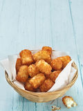 Rustic golden potato tater tots Royalty Free Stock Photography