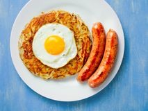 Rustic golden swiss rosti potato Royalty Free Stock Photography