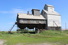Rustic granary. It stands alone in the village elevator (granary Stock Photos