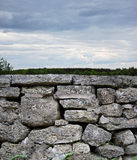 Gray Rock Stone Wall Royalty Free Stock Images