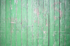 Rustic green wooden wall Stock Photo