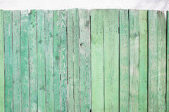 Rustic green wooden wall Stock Images