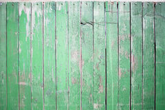 Rustic green wooden wall Stock Photography