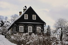 Rustic gretel. Rustic timbered in the winter Royalty Free Stock Images