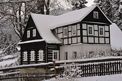 Rustic gretel. Rustic timbered in the winter Stock Images
