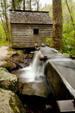 Rustic grist mill with connecting water trough. Royalty Free Stock Photography